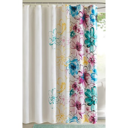 Intelligent Design Olivia Blue Shower Curtain