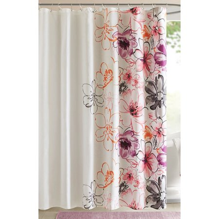 Intelligent Design Olivia Pink Shower Curtain