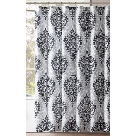 Intelligent Design Senna Black Shower Curtain