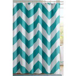 Mi Zone Libra Teal & White Shower Curtain