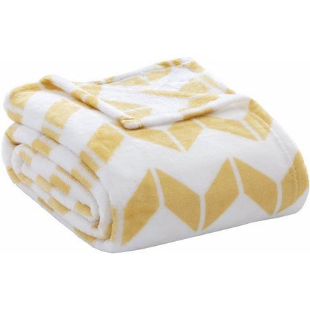 Intelligent Design Chevron Plush Blanket