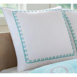 Echo Design Teal Madira Euro Pillow Sham