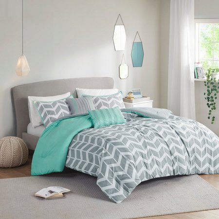 Intelligent Design Nadia Teal Comforter Set