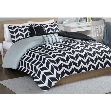 Intelligent Design Nadia Black Comforter Set