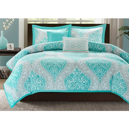 Intelligent Design Senna Aqua Coverlet Set