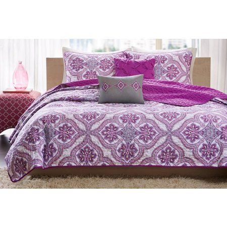Intelligent Design Lionna Purple Coverlet Set