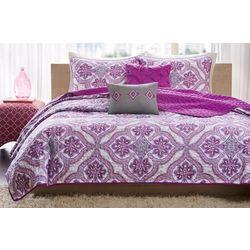 Intelligent Design Lionna Purple Coverlet Set