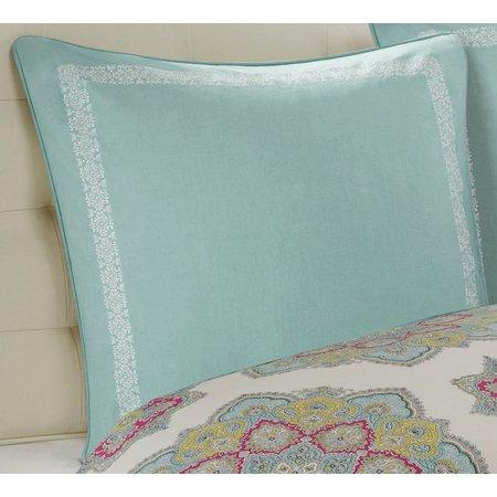Echo Design Teal Indira Euro Pillow Sham