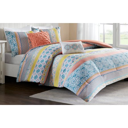 comforter venice blue walmart piece com sets beach ip coral set