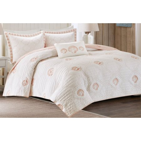 Harbor House Seaside Coral 4-pc. Coverlet Set