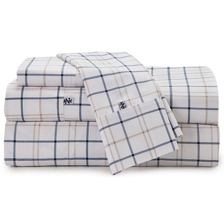 IZOD 4-pc. Windowpane Plaid Cal King Sheet Set