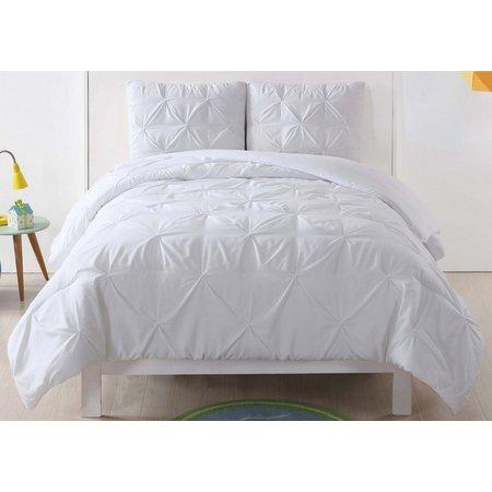 Laura Hart Kids Pleated White Comforter Set