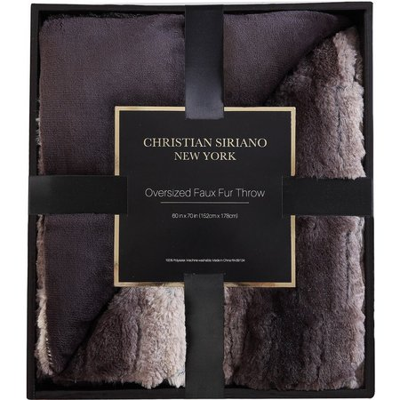 Christian Siriano Ombre Black Faux Fur Throw