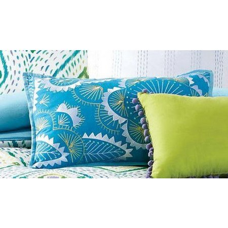 Antik Batik Thia Embroidered Oblong Pillow