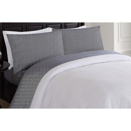 London Fog Pin Stripe Microfiber Sheet Set