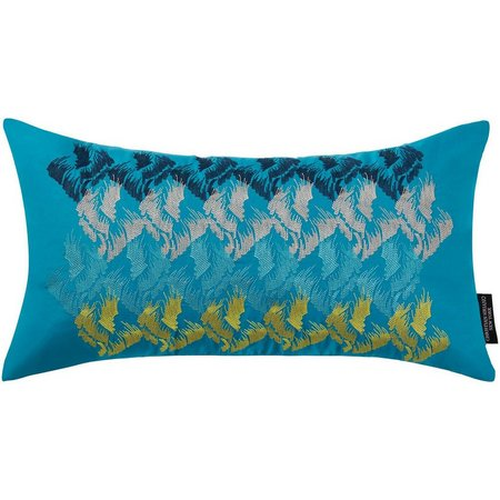 New! Christian Siriano Plume Oblong Decorative Pillow