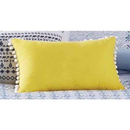 Antik Batik Indigo Pom Pom Pillow