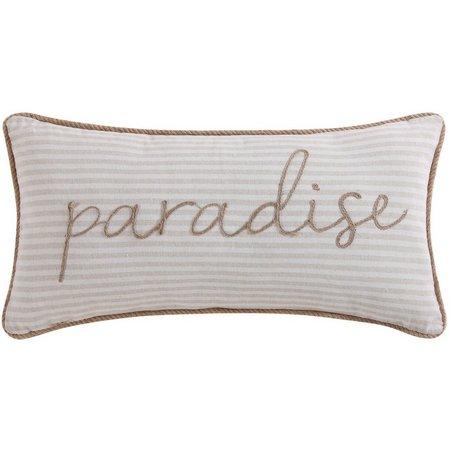 Oceanfront Resort Plantation Woven Stripe Pillow