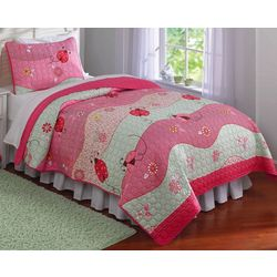 My World Garden Waves 2-pc. Twin Quilt Set