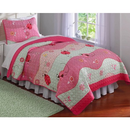 My World Garden Waves 3-pc. Full/Queen Quilt Set