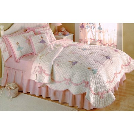 My World Ballet Lessons 3-pc.Full/Queen Quilt Set