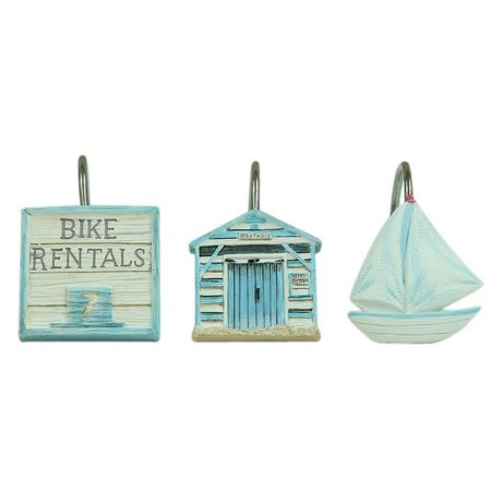 Bacova Beach Cruiser 12-pk. Shower Hooks