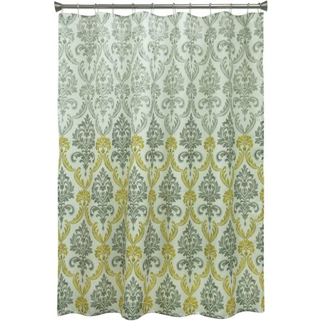 Bacova Portico Yellow Damask Shower Curtain