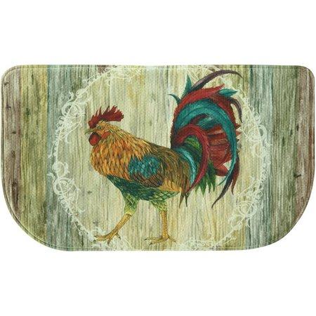 Bacova Rooster Strut Memory Foam Slice Mat