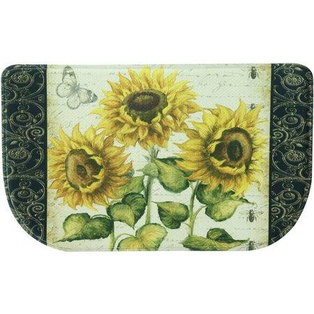 Bacova French Sunflower Memory Foam Slice Mat