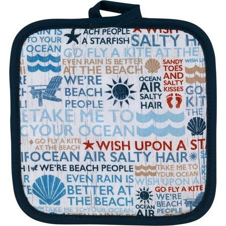 Avanti Beach Words Printed Pot Holder