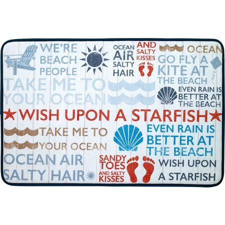 Avanti Beach Words Memory Foam Kitchen Mat