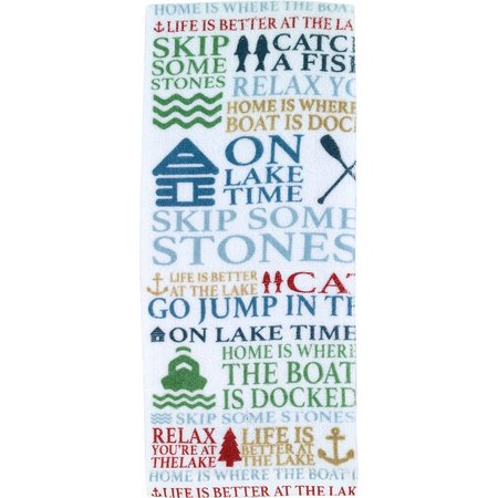 Avanti Lake Words Printed Kitchen Towel