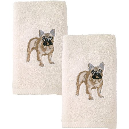 Avanti French Bulldog 2-pc. Hand Towel Set