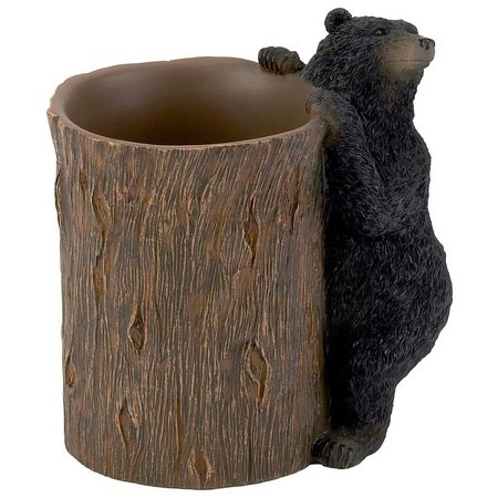 Avanti Black Bear Lodge Bathroom Tumbler