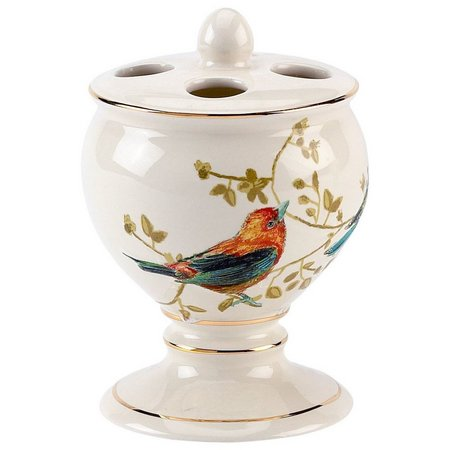Avanti Gilded Birds Toothbrush Holder
