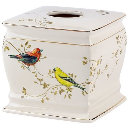 Avanti Gilded Birds Tissue Box Cover