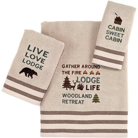 Avanti Cabin Words Towel Collection