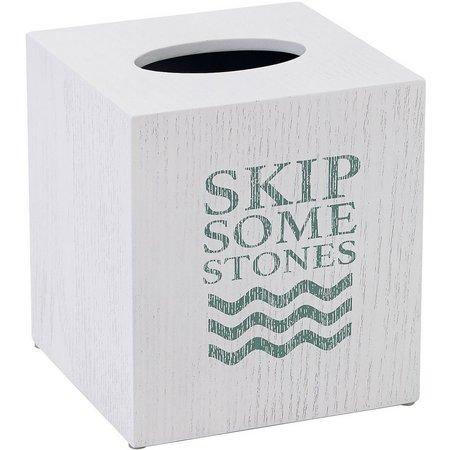 Avanti Lake Words Tissue Box Cover