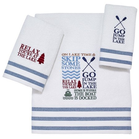 Avanti Lake Words Towel Collection