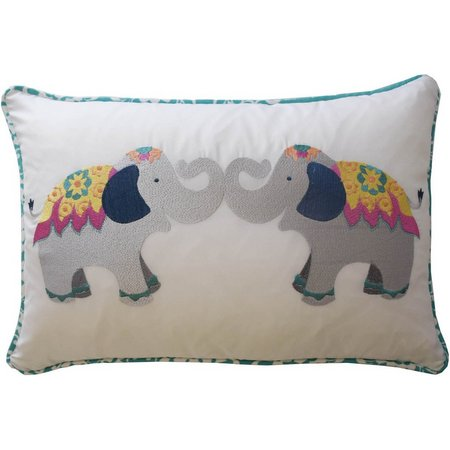 Waverly Kids Bollywood Elephant Decorative Pillow