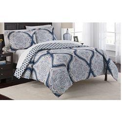 New! Marble Hill Lotus 3-pc. Reversible Comforter Set