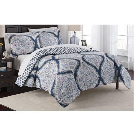 Marble Hill Lotus 3-pc. Reversible Comforter Set