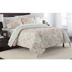New! Marble Hill Carlisle 3-pc Reversible Comforter Set