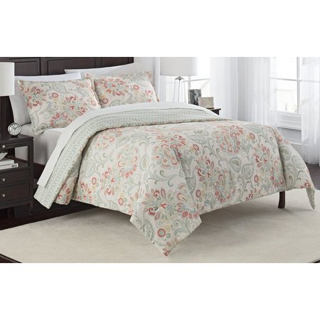 Marble Hill Carlisle 3-pc Reversible Comforter Set
