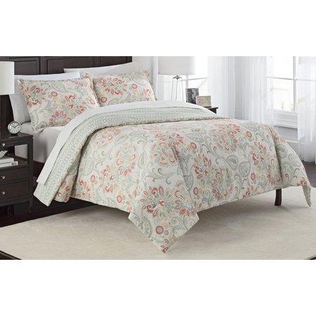 Marble Hill Carlisle 3-pc Reversible Comforter Set