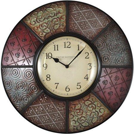 FirsTime 20.5'' Patchwork Wall Clock
