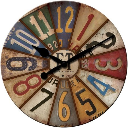 FirsTime 15.5'' Vintage Plates Wall Clock