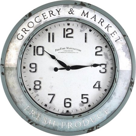 FirsTime 11'' Vintage Grocery Wall Clock