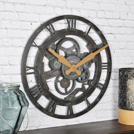 FirsTime 15'' Oxidized Gears Wall Clock
