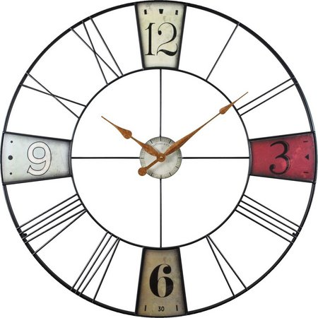 FirsTime 36'' Vibrant Plaques Wall Clock